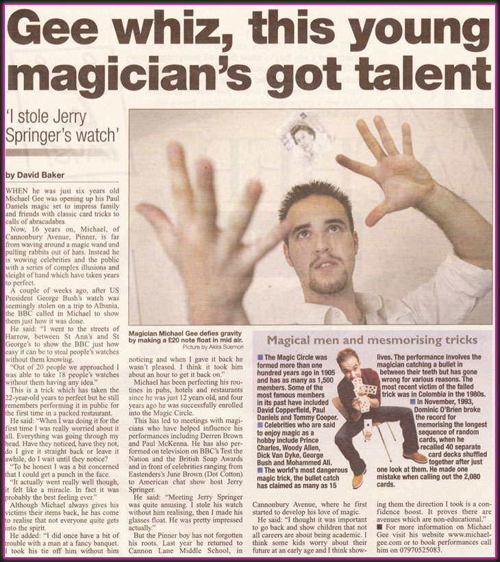 Michael Gee Magician - image 2
