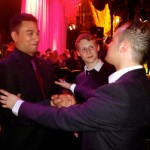 Michael performing for Ricky Norwood and Jamie Borthwick, Eastenders