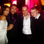 Michael with Jade Ewen, Ricky Norwood and Jamie Borthwick
