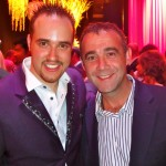 Michael with Michael Le Vell, Coronation Street