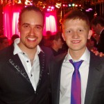 Michael with Sam Aston, Coronation Street