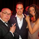 Michael with Michelle Keegan and Malcolm Hebden, Coronation Street