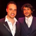 Michael with Marc Elliott, Eastenders