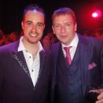 Michael with Adam Woodyatt, Eastenders