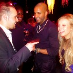 Michael performing for Ricky Whittle and Carley Stenson, Hollyoaks
