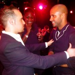 Michael performing for Ricky Whittle, Hollyoaks