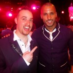 Michael with Ricky Whittle, Hollyoaks