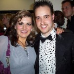 Michael with Jodie Prenger, winner of BBC's I'd Do Anything