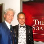 Michael with Phillip Schofield at The British Soap Awards