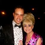 Michael with Barbara Windsor