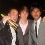 Michael with Thomas Law and Himesh Patel, Eastenders