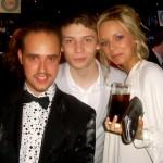 Michael with Charlie G Hawkins and Sacha Parkinson